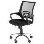 Office & Home Mesh Chair NAPOLI Black Modern Adjustable with Metal Base