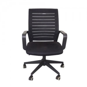 Office & Home Mesh Chair TORINO Big Black Modern