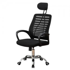 Office & Home Mesh Chair ERGONOMIC Black Modern Adjustable with Metal Base