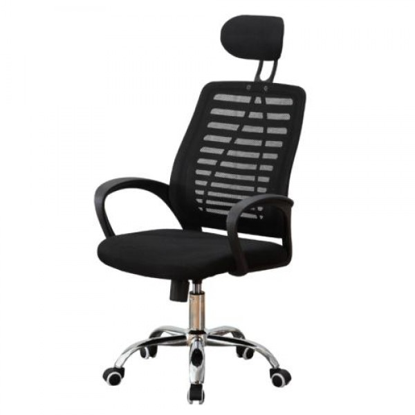 Office & Home Mesh Chair ERGONOMIC Black Modern Adjustable with Metal Base